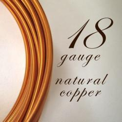 21 feet of 18 gauge Natural copper wire